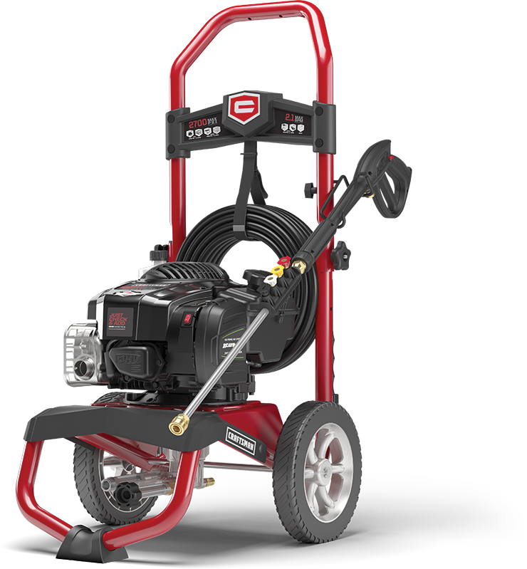 2700 Max PSI 2.1 GPM Briggs & Stratton powered gas pressure washer