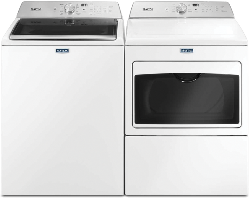 4.7- cu. ft. capacity with Powerwash and Deep Water Wash option and 7.4- cu. ft. capacity with IntelliDry sensor, sanitize cycle and Wrinkle Prevention option