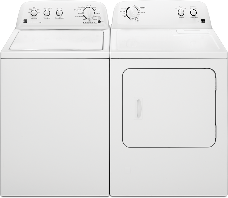 3.8 cu. ft. capacity Washer and 7.0 cu. ft. Dryer