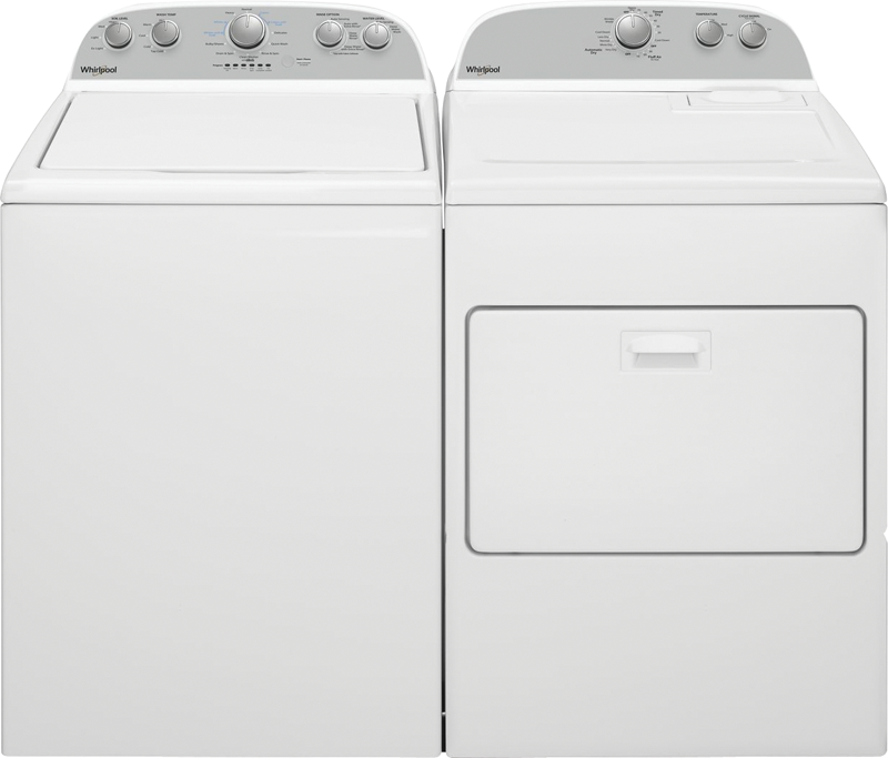 3.9 cu. ft. capacity Washer and 7.0 cu. ft. Dryer
