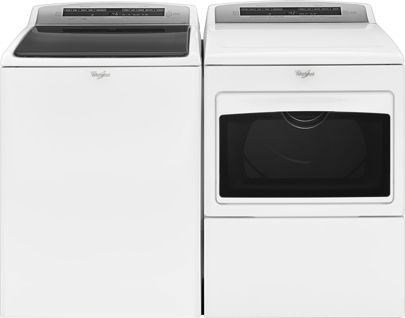 4.8 cu. ft. capacity Washer and 7.4 cu. ft. Dryer