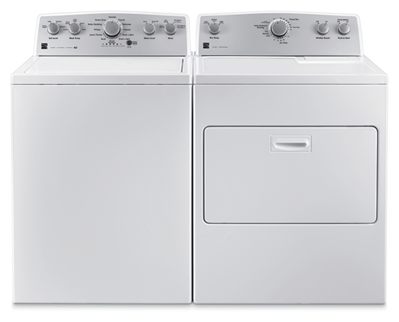 Kenmore 4.2 cu. ft. top load washer with Deep Fill and 7.0 cu. ft. electric dryer with SmartDry Plus technology