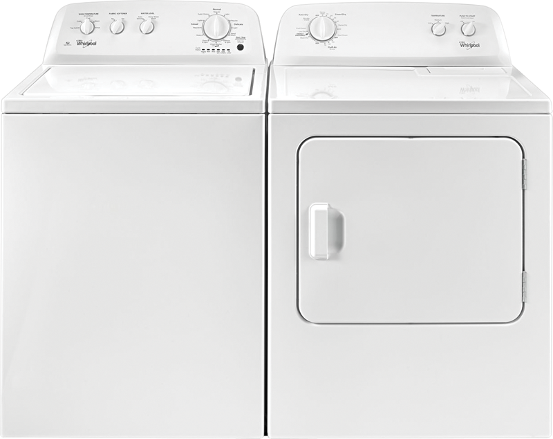 3.5 cu. ft. top load washer and 7.0 cu. ft. electric dryer
