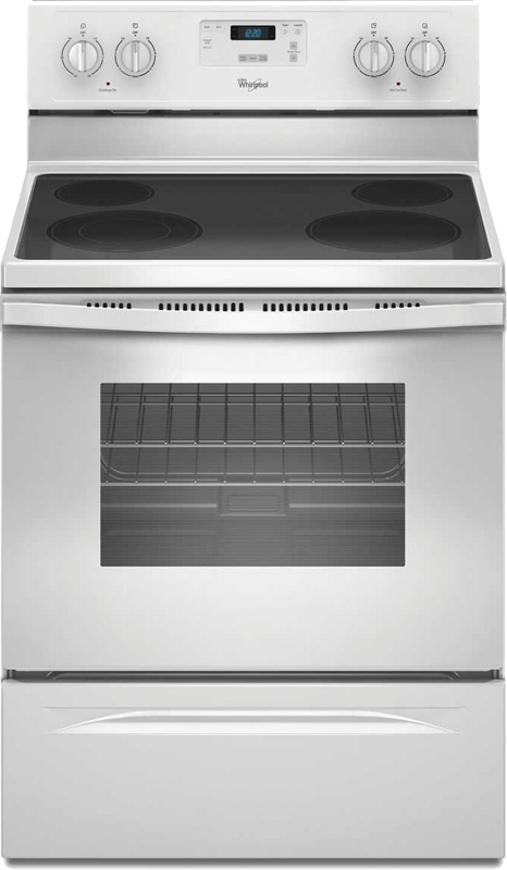 4.8 cu. ft. capacity electric with ceramic glass cooktop and easy view window