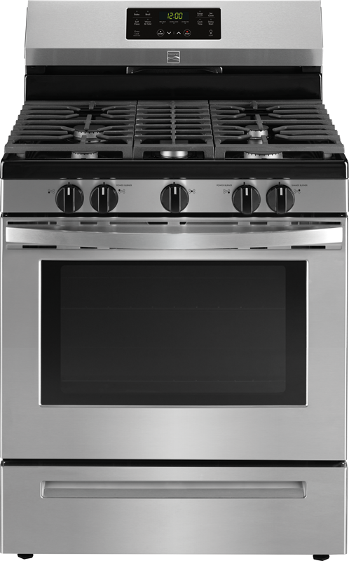 5.0 cu. ft. capacity self clean gas with 5 burners to handle a variety of cooking tasks