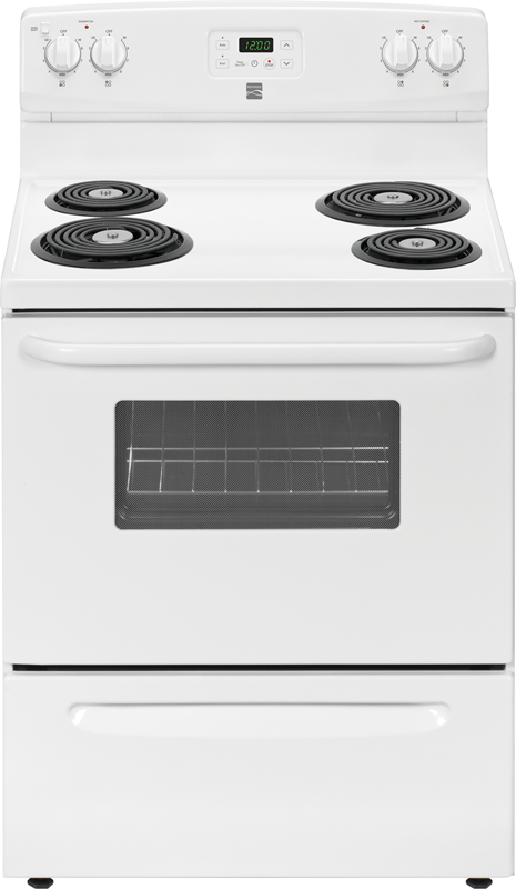 4.9 cu. ft. capacity electric with multiple size cooking elements and 3 broil settings