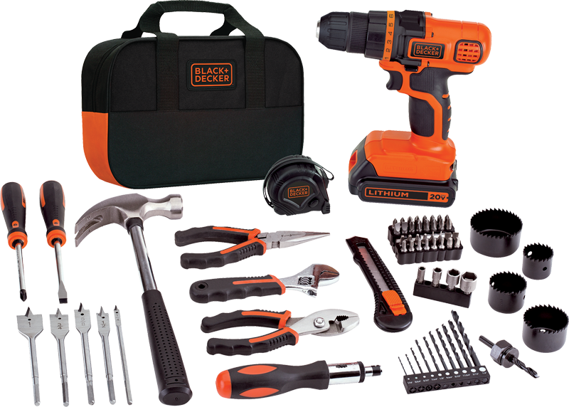 20V max lithium-ion drill/driver plus 68-pc. project kit