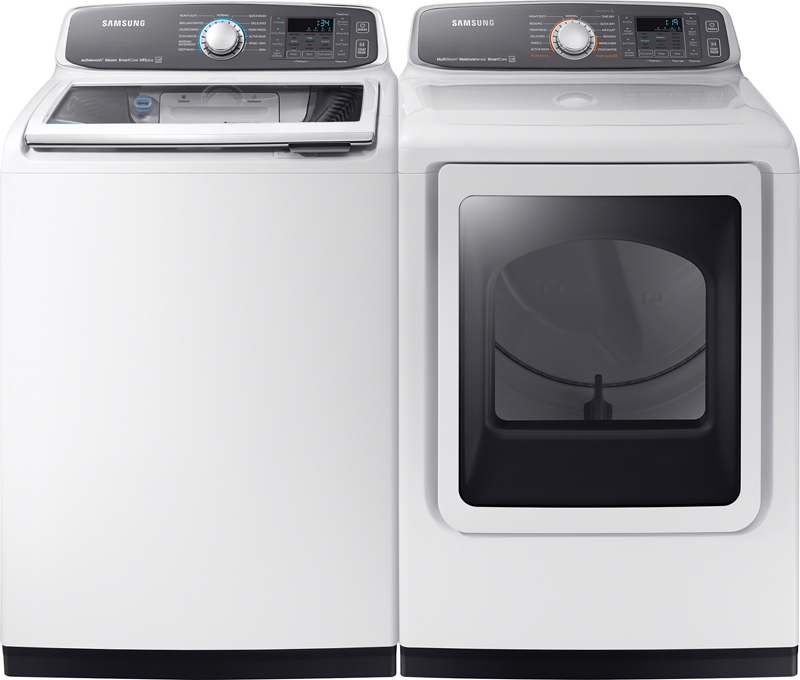 5.2 cu. ft. capacity with Activewash and Steam wash and 7.4 cu. ft. capacity electric with Steam and Sensor Dry