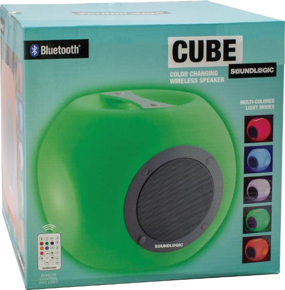 Soundlogic colour changing bluetooth speaker