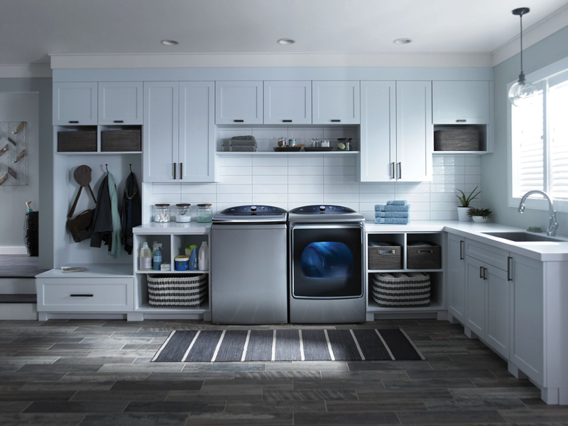 6.2- cu. ft. capacity with Accela Wash & Steam and 9.2- cu. ft. capacity with SmartDry, Steam Refresh Quad Baffles
