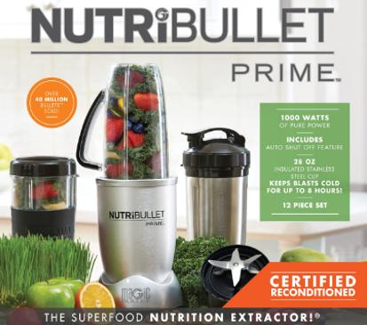Nutribullet Prime 12-pc. high speed blender system refurbished