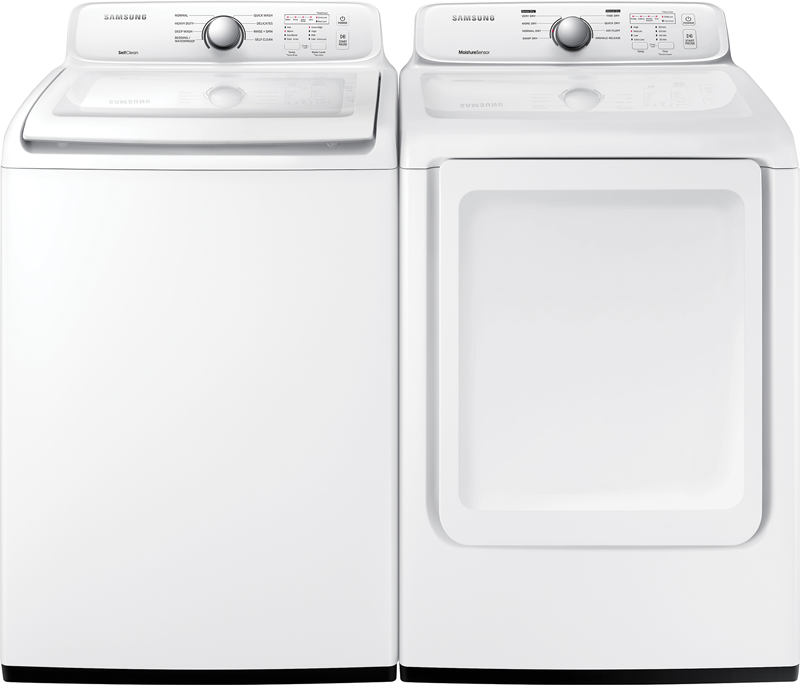 4.5 cu. ft. capacity Washer and 7.2 cu. ft. Dryer