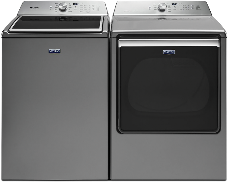 5.2 cu. ft. capacity Washer and 8.8 cu. ft. Dryer