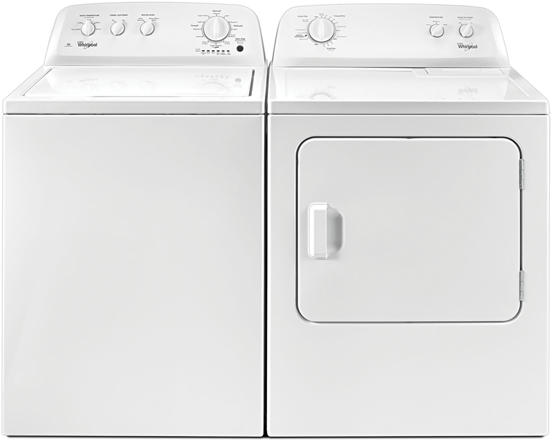 3.5- cu. ft. capacity with Dual Action Agitator and deep water wash option and 7.0- cu. ft. capacity electric dryer with WrinkleShield and timed dry