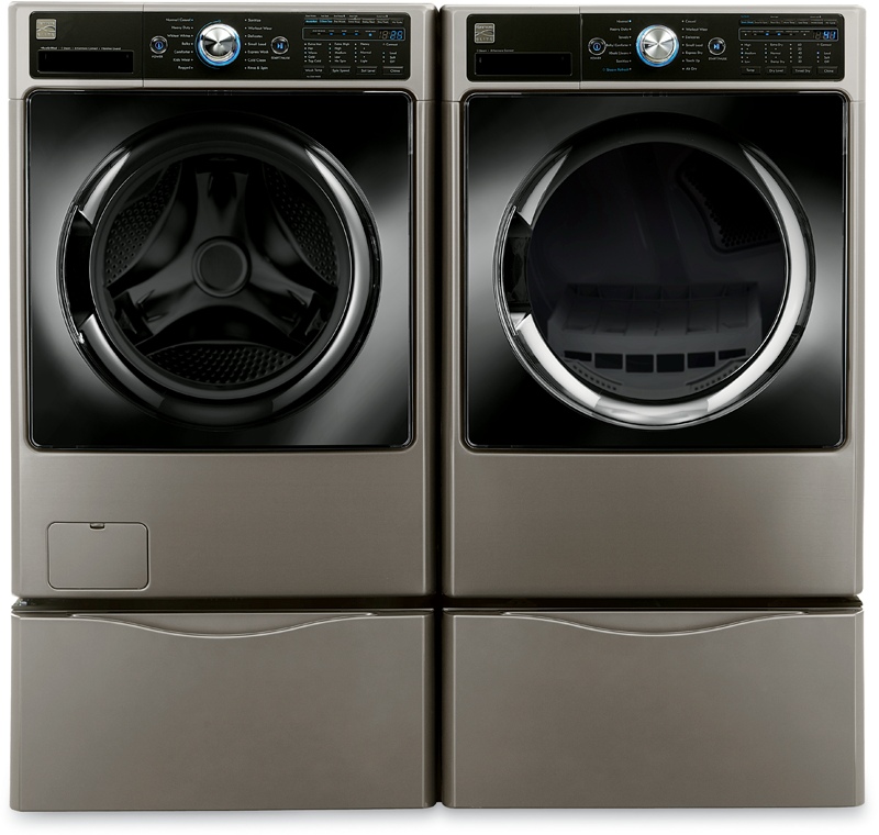 4.5 cu. ft. capacity with Smart Motion technology and Steam treat and 7.4 cu. ft. capacity with Sensor Dry and Sanitize cycle
