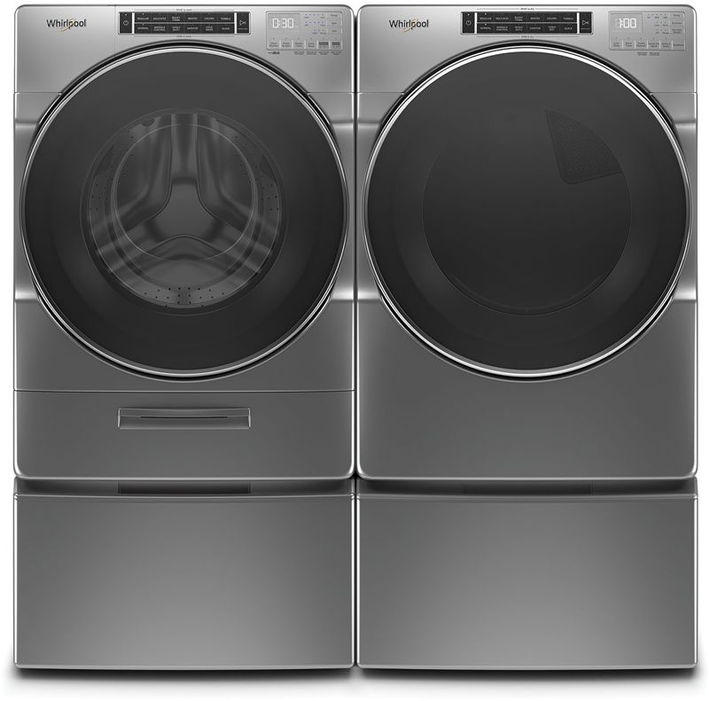 5.0 cu. ft. capacity Washer and 7.4 cu. ft. Dryer