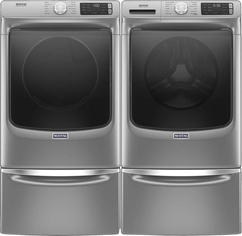 4.8 cu. ft. capacity Washer and 7.3 cu. ft. Dryer