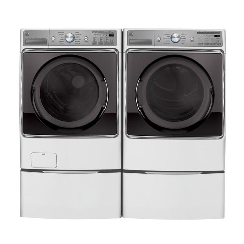 Kenmore Elite 5.2-cu. ft. capacity front load steam washer and 9.0-cu. ft. front load electric steam dryer