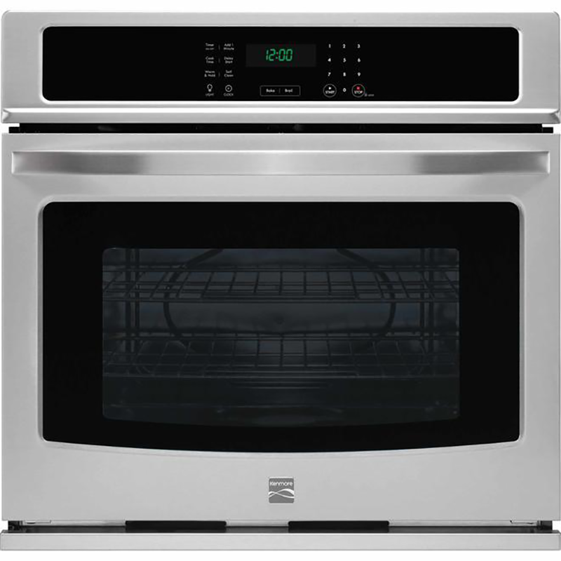 Kenmore 27-in. width single electric wall oven with warm & hold feature