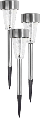 Glass and stainless steel solar light
