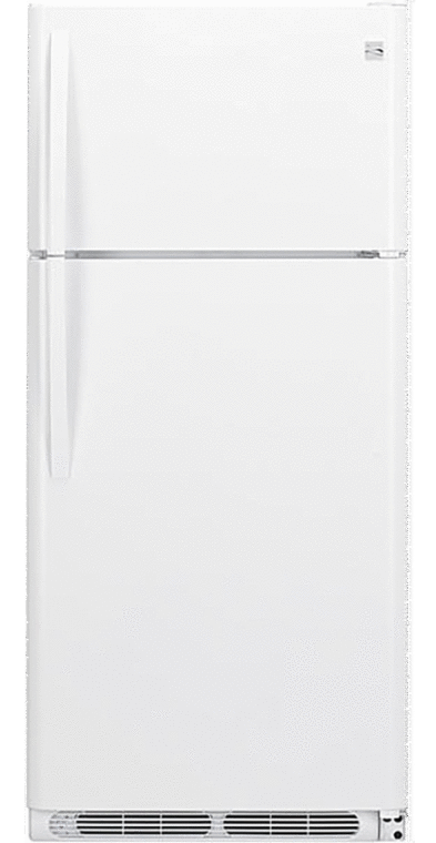 18 cu. ft. capacity with gallon-sized door bins and clear crisper drawers