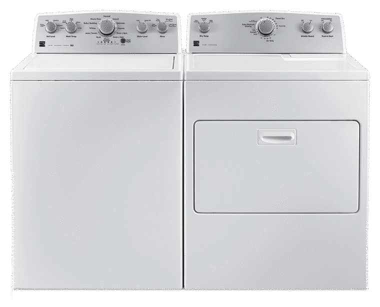 4.2 cu. ft. top load washer with Deep Fill and 7.0 cu. ft. electric dryer with SmartDry Plus technology