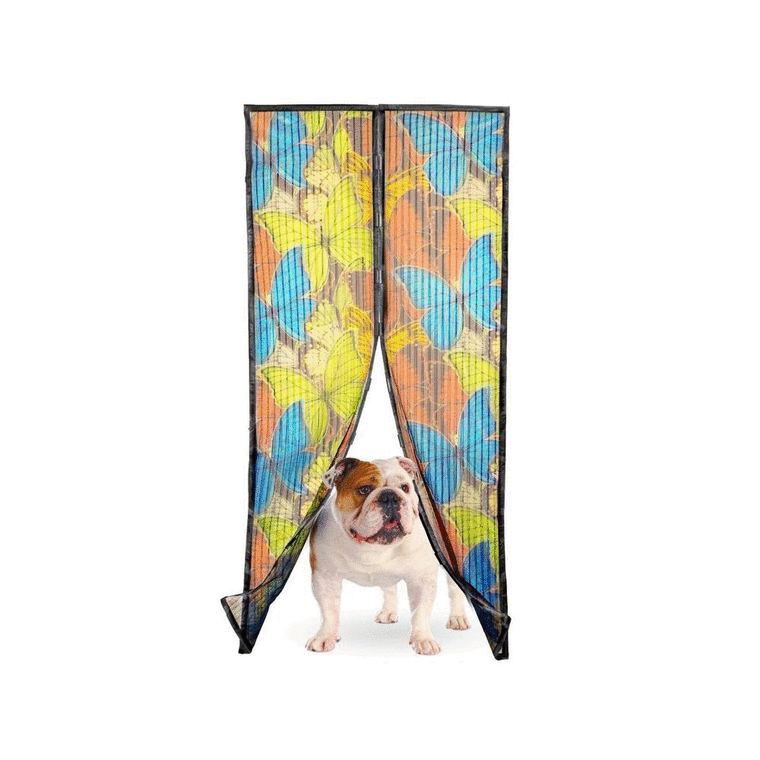 Magnetic mesh curtain butterfly design