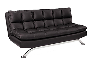 Delray Convertible Sofa Bed - Black