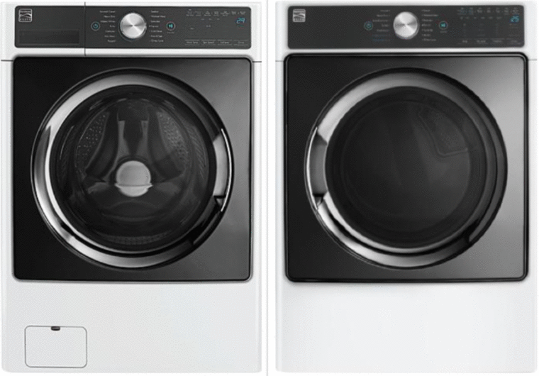 Kenmore Elite 4.5 cu. ft. capacity washer with Smart Motion and Accela Wash® technology and Steam Treat and 7.4 cu. ft. capacity dryer with Accela Steam™ technology, Steam Refresh and Sensor Dry