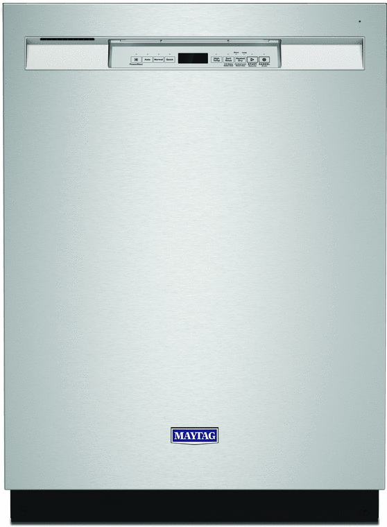 Maytag 24-in. built-in dishwasher with PowerBlast® cycle and 4-blade stainless steel chopper