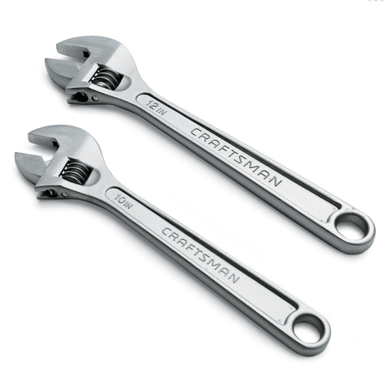 Craftsman 2-pc. adjustable wrench set Includes 10 and 12-in. wrench sizes.