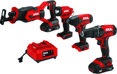 Skil 20-volt 4-pc. combo kit