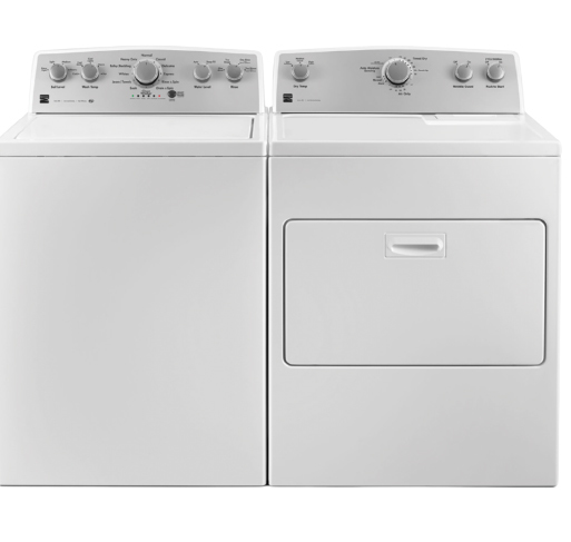 Kenmore 4.2 cu. ft. capacity washer with Triple Action Agitator, stainless steel wash basket and deep fill option