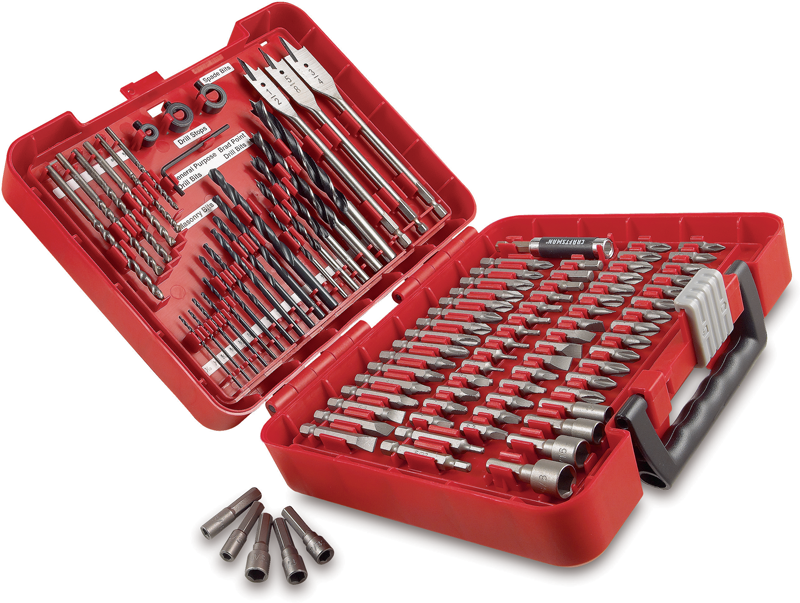 Craftsman 100-pc. drilling and driving accessory kit