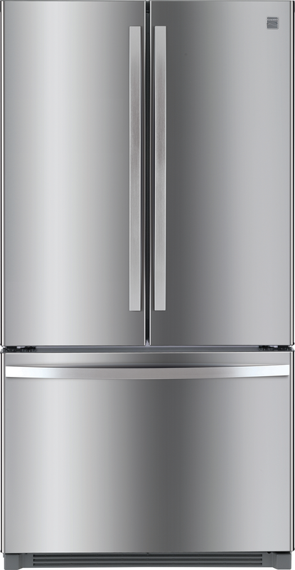 Kenmore 26.1-cu. ft. capacity refrigerator with full-width gourmet pantry drawer and adjustable shelves to customize