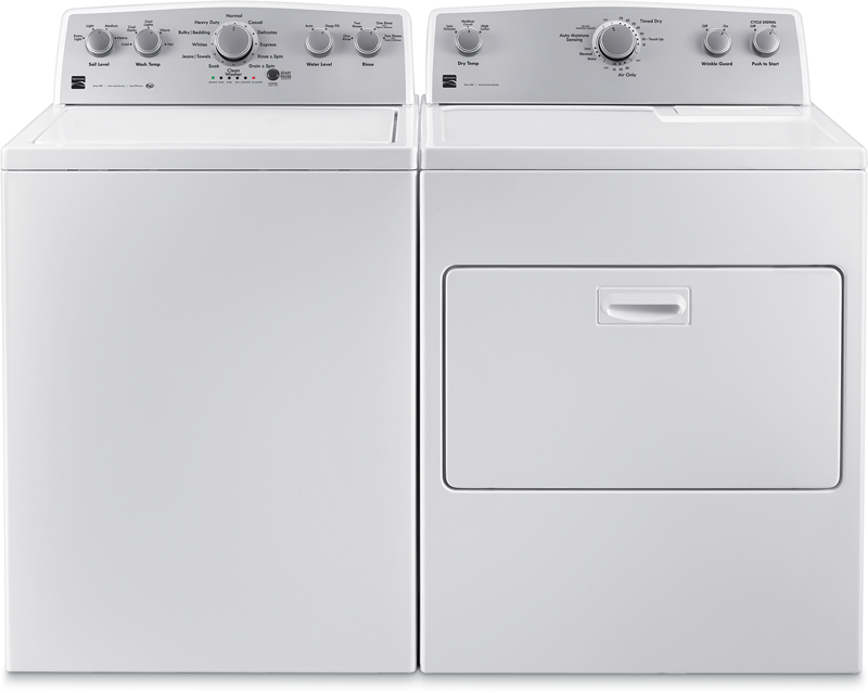 4.2 cu. ft. top load washer with Deep Fill and 7.0 cu. ft. capacity with SmartDry Plus and wrinkle guard