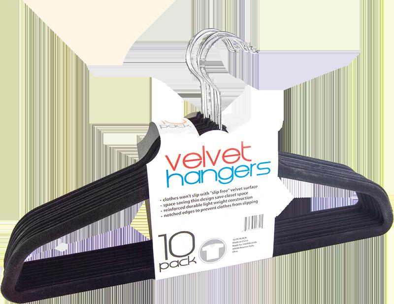 10 pack velvet hangers