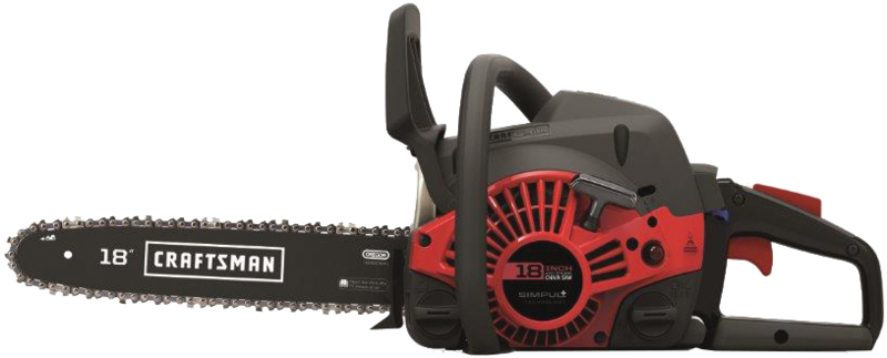 Craftsman 18-in, 42 Cc gas powered chainsaw with case