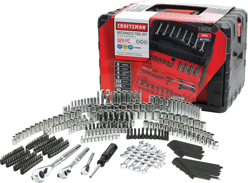 320-pc. mechanics tool set