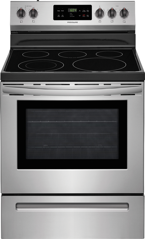 Frigidaire 5.3 cu. ft. capacity electric with Quick Boil, Store-More Storage Drawer and 12-in. element