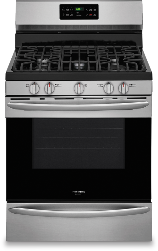5.0 cu. ft. capacity gas with Quick Bake convection and 17,000 BTU power burner
