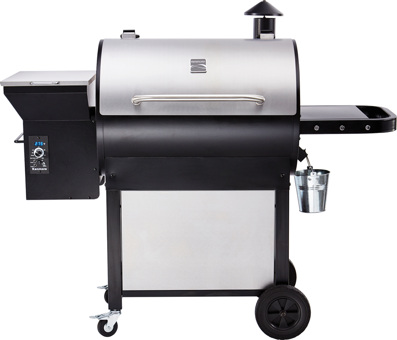 Pellet smoker with stainless steel lid