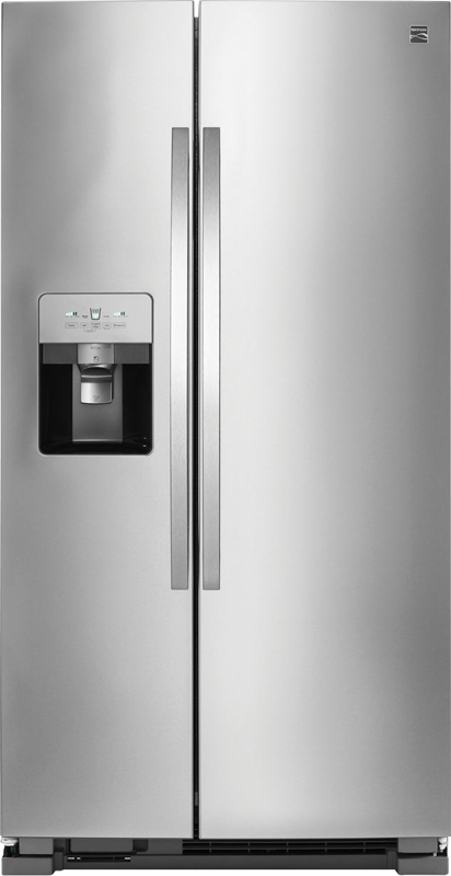 Kenmore 25-cu. ft. capacity refrigerator with SpaceSaver™ ice system, humidity control crisper and gallon size door bins