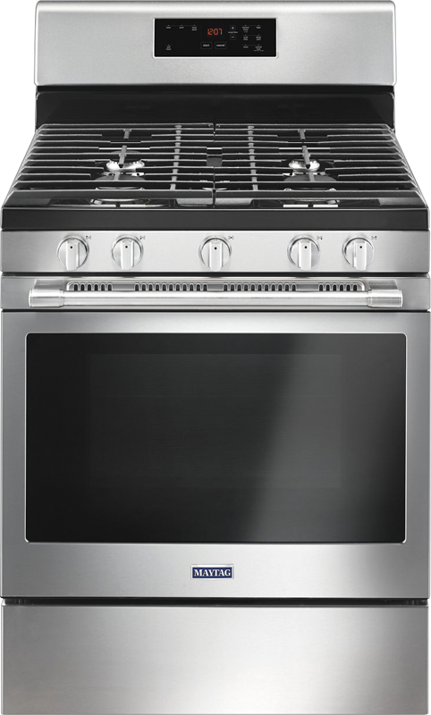 Maytag 5.0 cu. ft. capacity gas range with Power™ Burner and Precision Cooking™ system