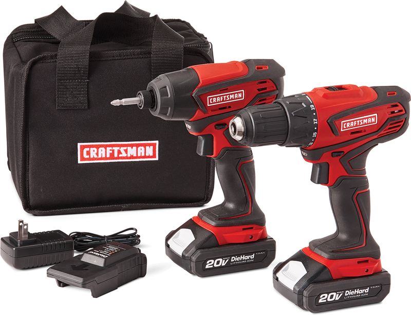 Craftsman 20-volt MAX 1/2-in. Drill and 1/4-in. Impact Driver combo kit