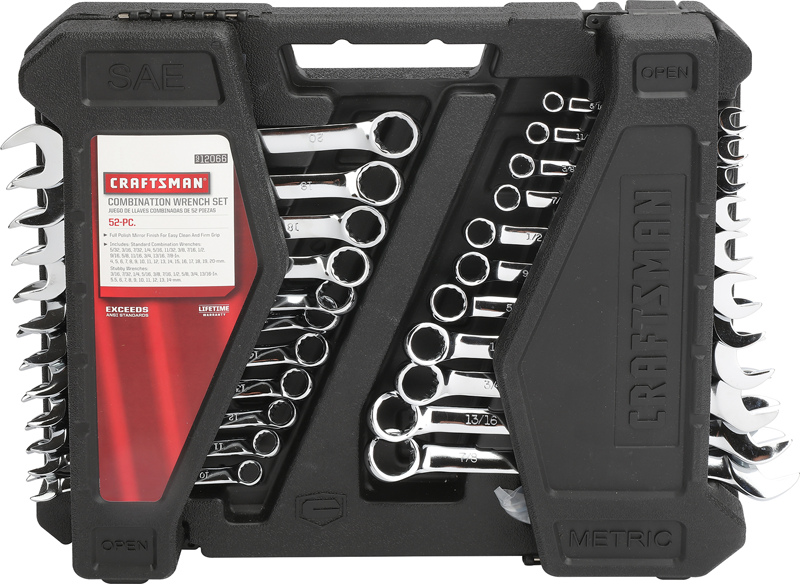Craftsman 52-pc.combination wrench set inch and metric