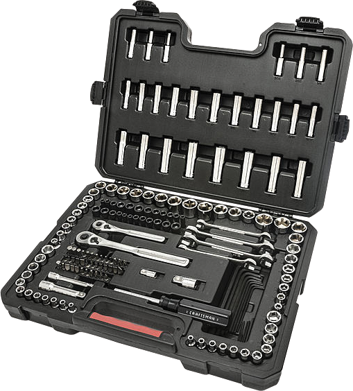 Craftsman 165-pc.mechanics tool set with storage case