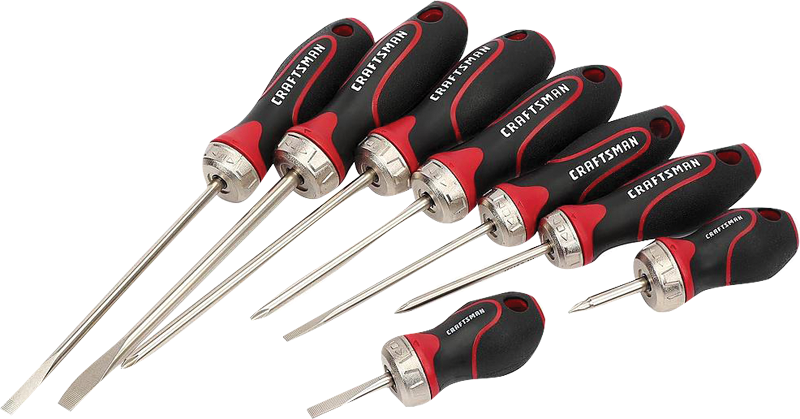 Craftsman 8-pc.ratcheting fixed-blade screwdriving set