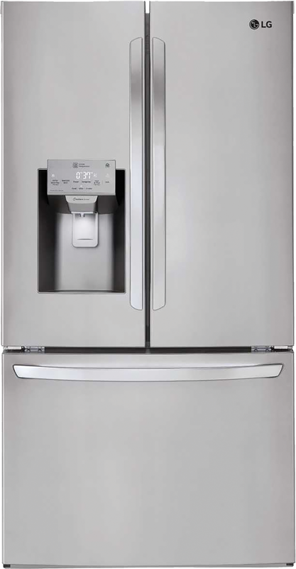LG 26.2-cu. ft. capacity refrigerator with full width Glide N' Serve® drawer, dual ice maker and humidity controlled crisper drawers