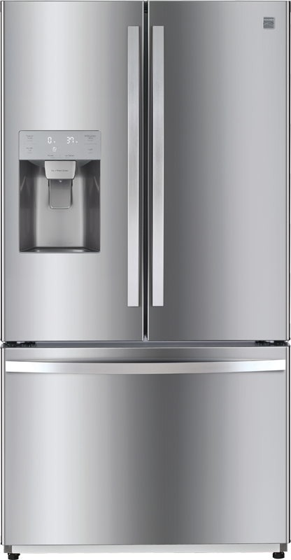 Kenmore 25.5 cu. ft. capacity refrigerator with adjustable shelves, full width pantry drawer and gallon sized door bins